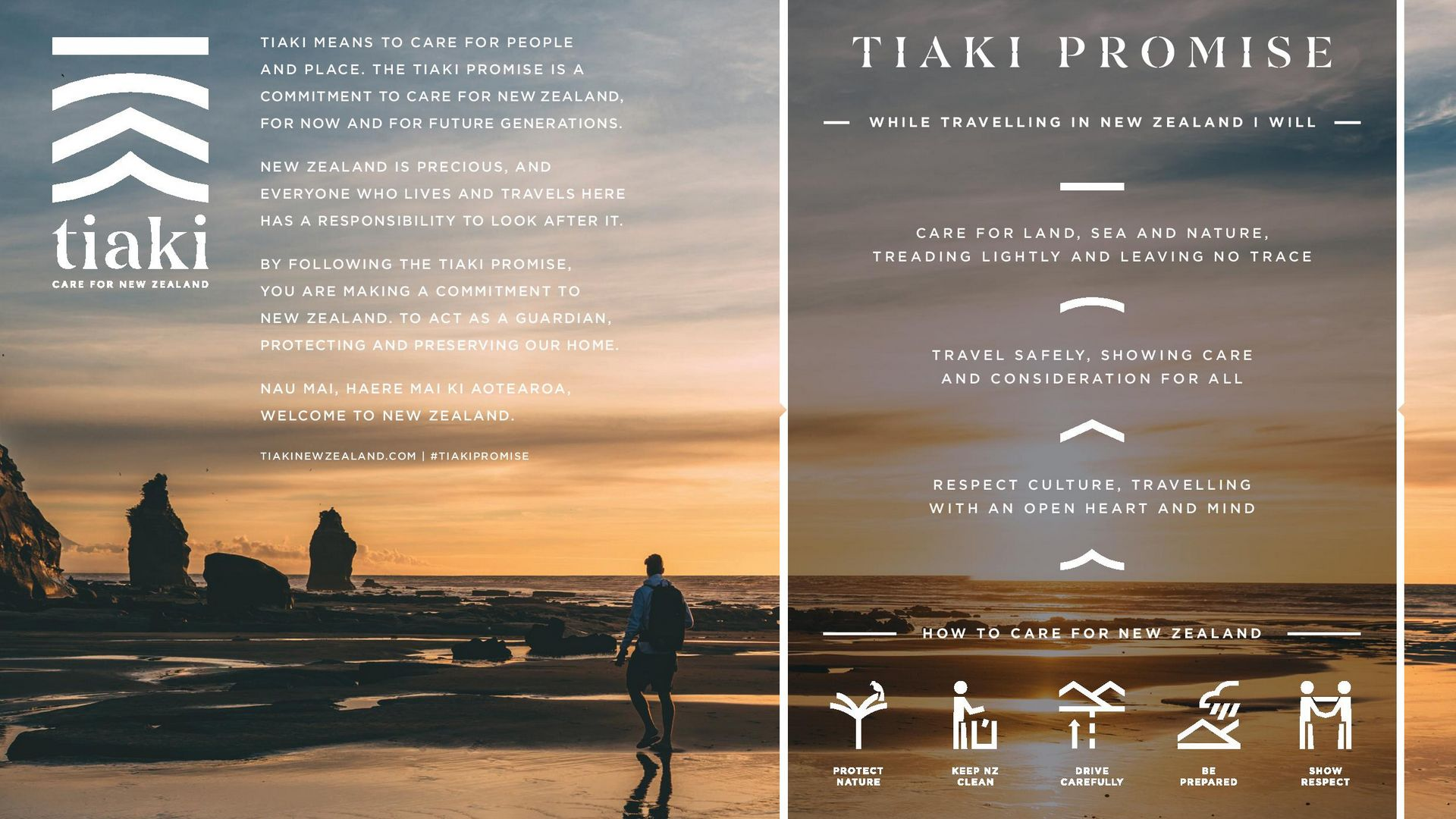 The Tiaki Promise - Looking after New Zealand for everyone