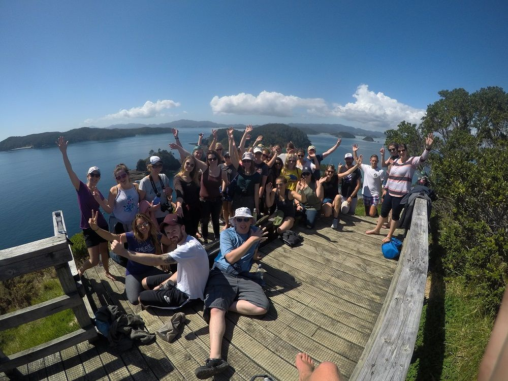 Arriving at the top of the island with views over the Bay of Islands are worth celebrating