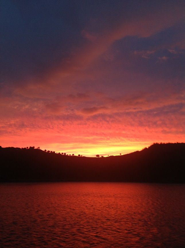 Sunrise in the Bay of Islands - best seen from your onboard cabin